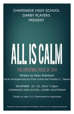 "Darby Players Present ""All is Calm"""