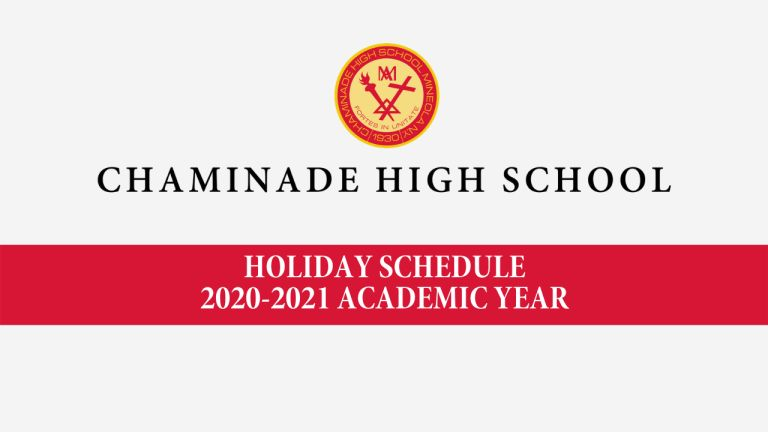 Holiday Schedule for the 2020-2021 Academic Year