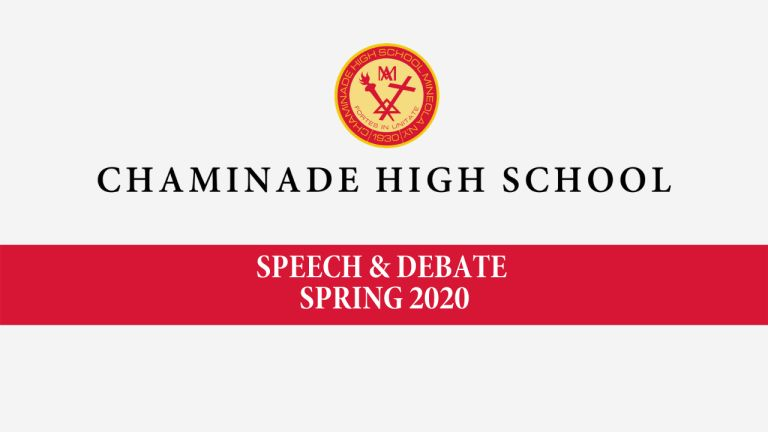 Chaminade Speech & Debate News